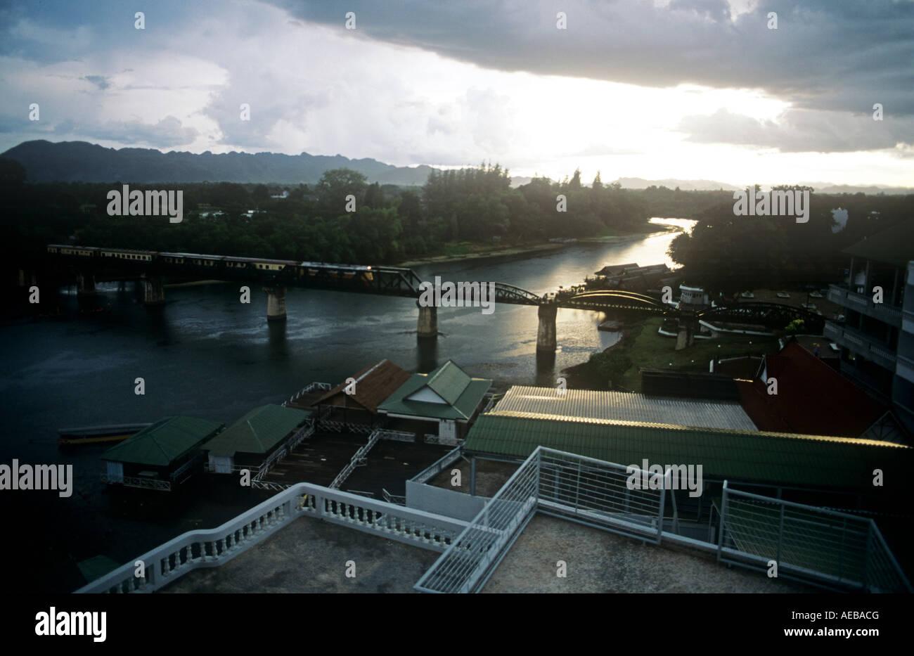 The Bridge over The River Quai, Kanchanaburi, Thailand, SE Asia - Stock Image