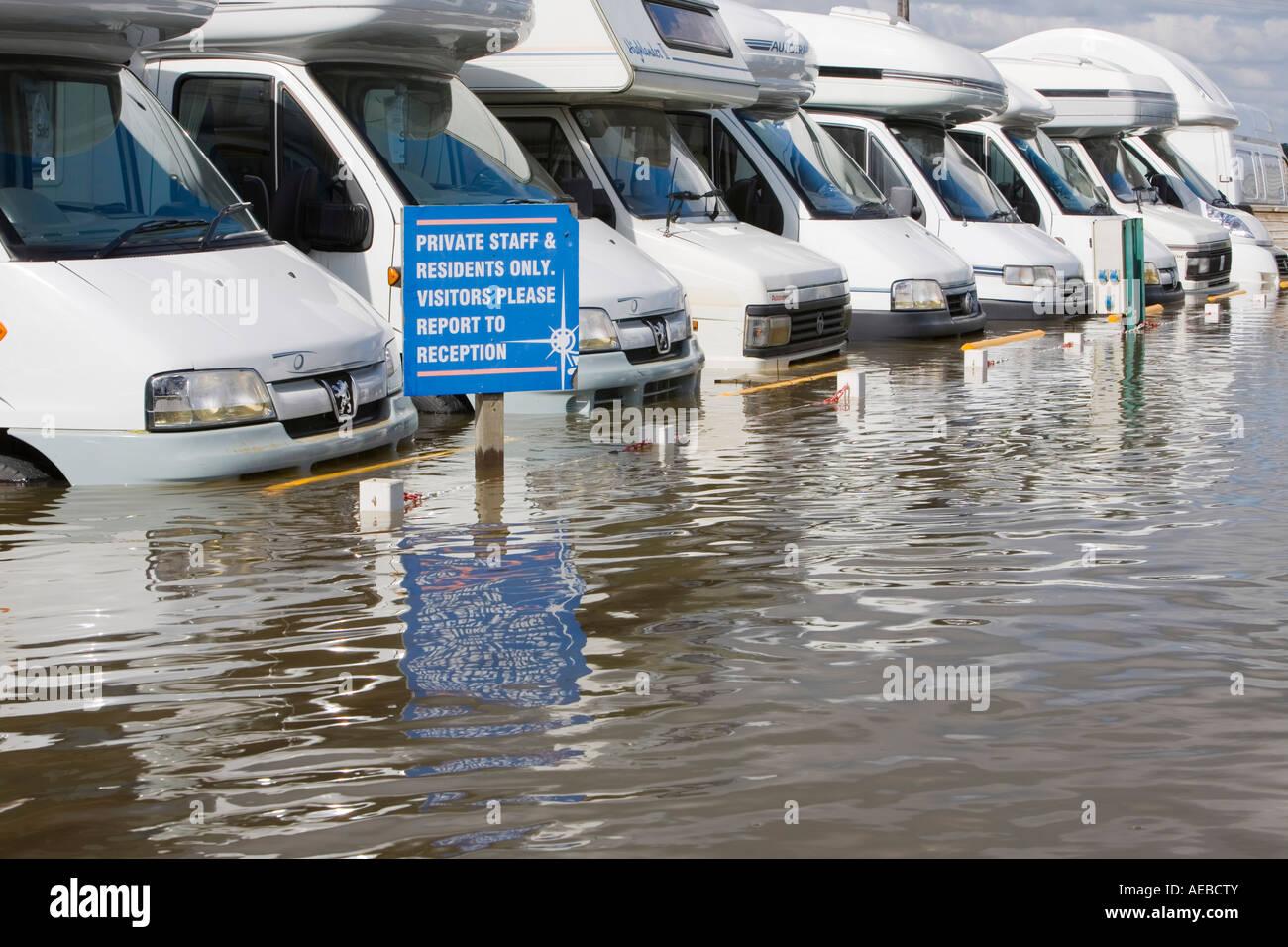 The Tewkesbury floods - Stock Image