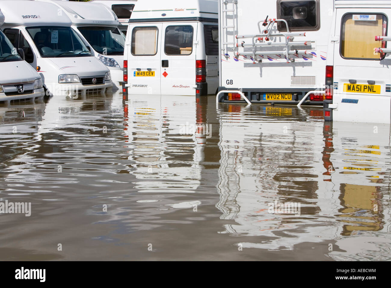 The Tewkesbury floods in summer 2007 - Stock Image