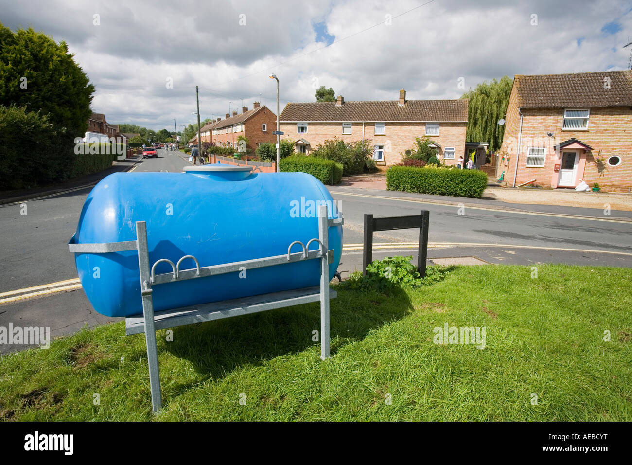 water bowsers preoviding drinking water during  the Tewkesbury floods - Stock Image