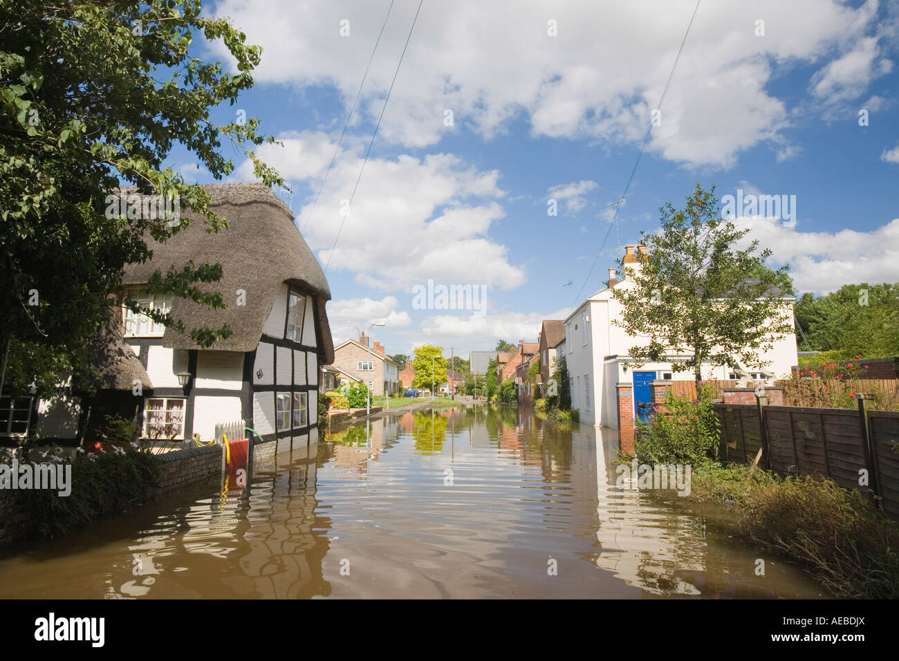 A flooded house in Kempsey near worcester - Stock Image