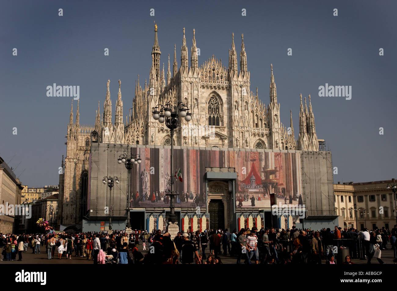 Duomo plaza, Milano italy italia galleria - Stock Image