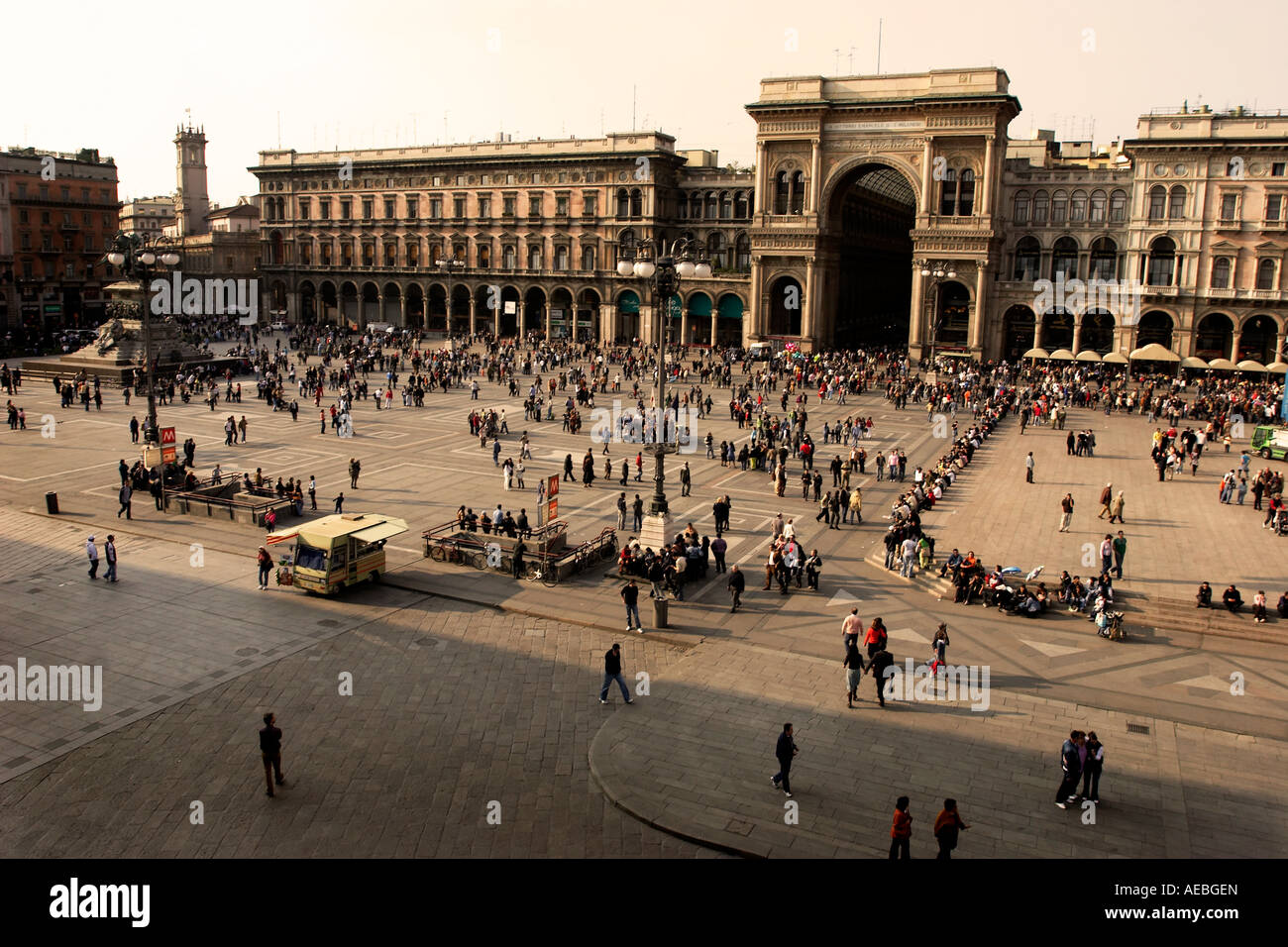 Duomo plaza, Milano italy italia - Stock Image