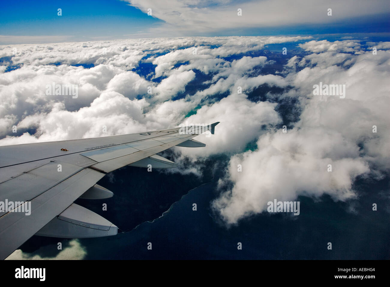 Passenger Aircraft wingtip. - Stock Image