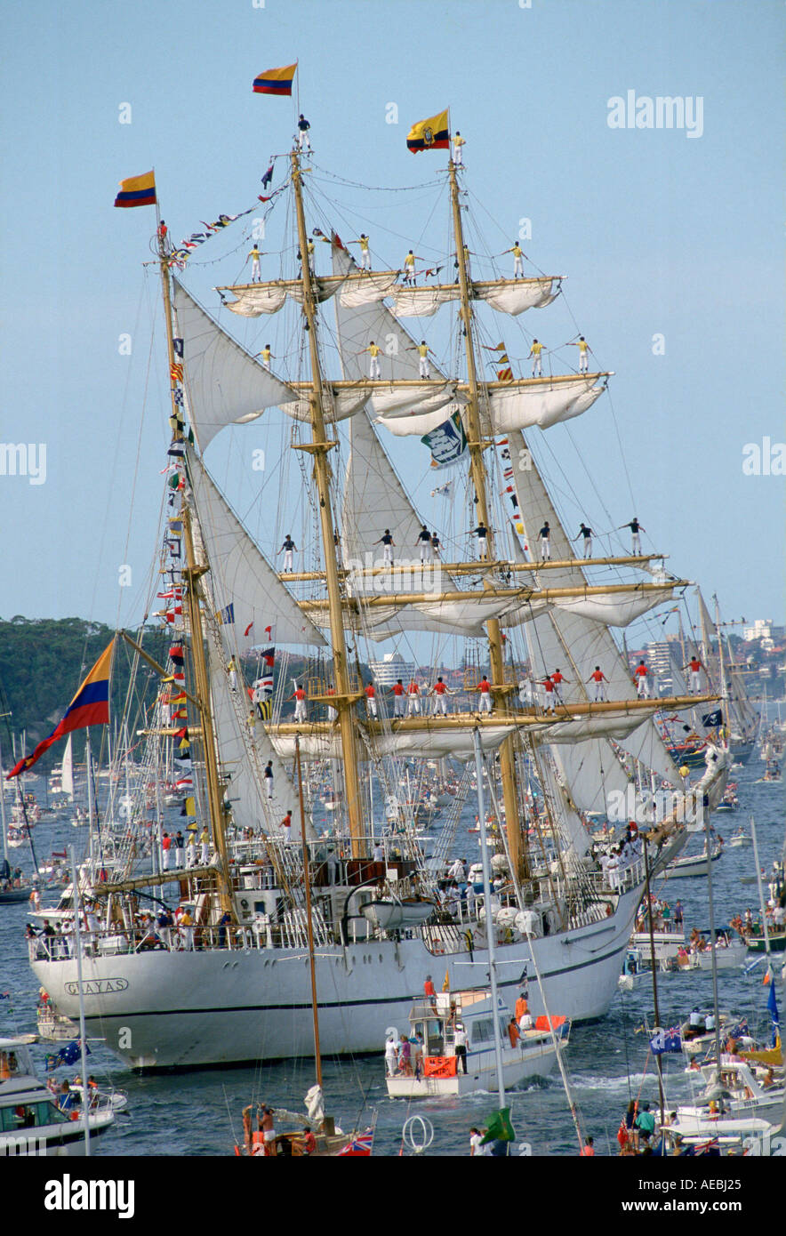 Bicentennial Day Sydney Harbour Australia - Stock Image