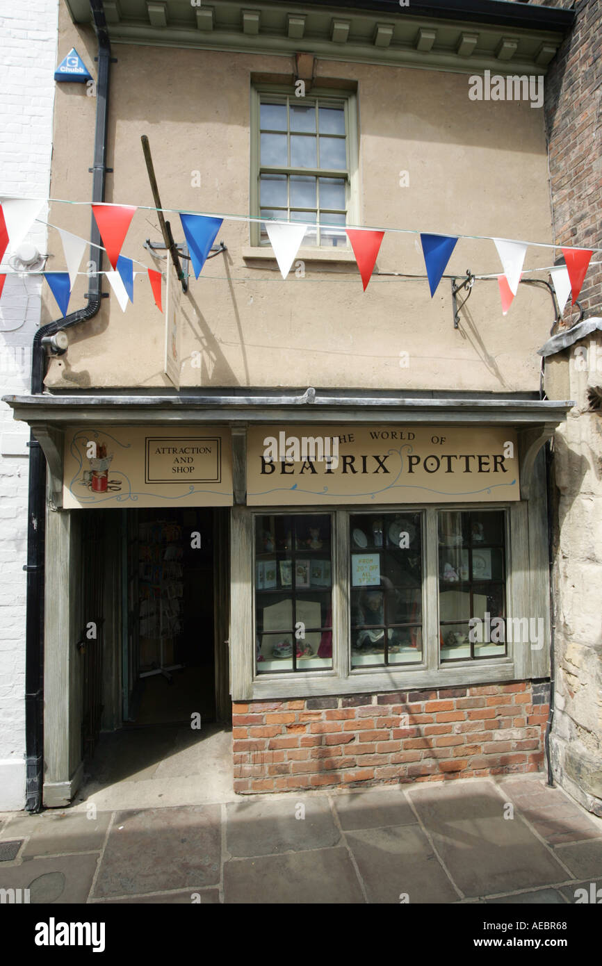 The Beatrix Potter shop in College Court Gloucester UK - Stock Image