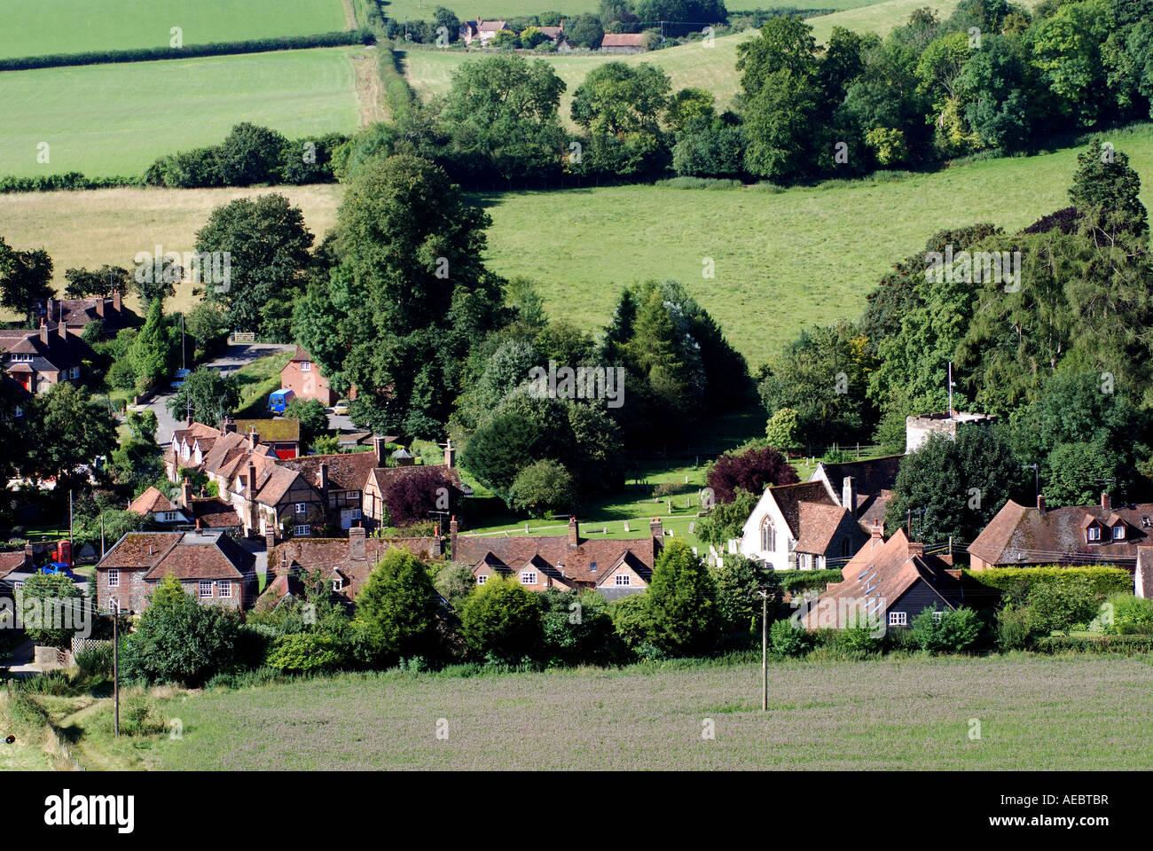 Turville village, Buckinghamshire, England, UK - Stock Image