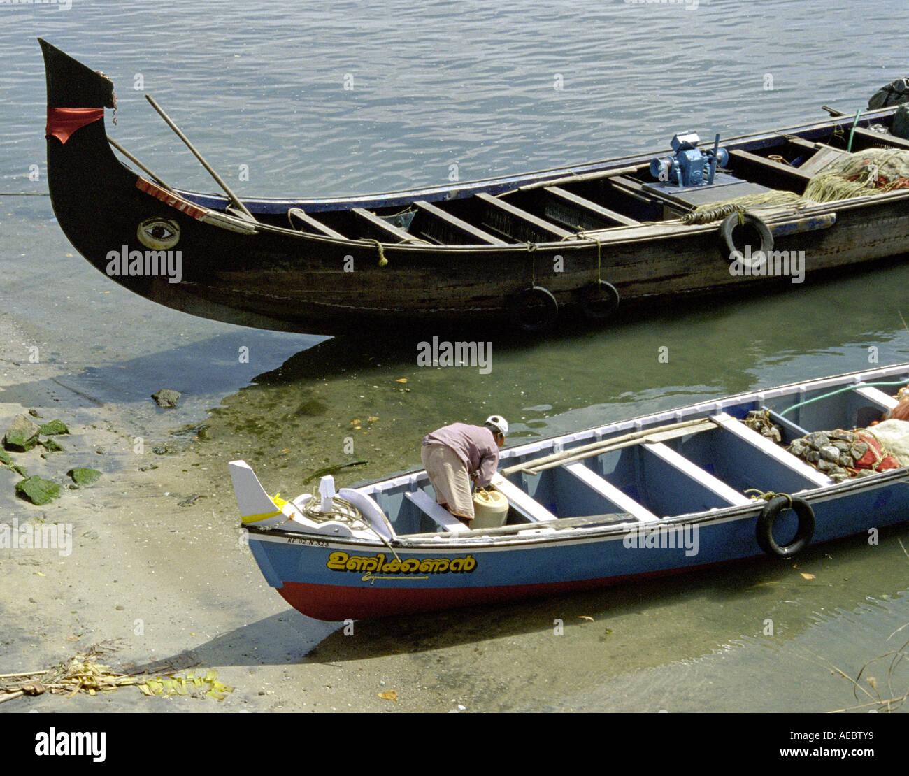Ashtamudi Lake: Kerala Country Boats Stock Photos & Kerala Country Boats