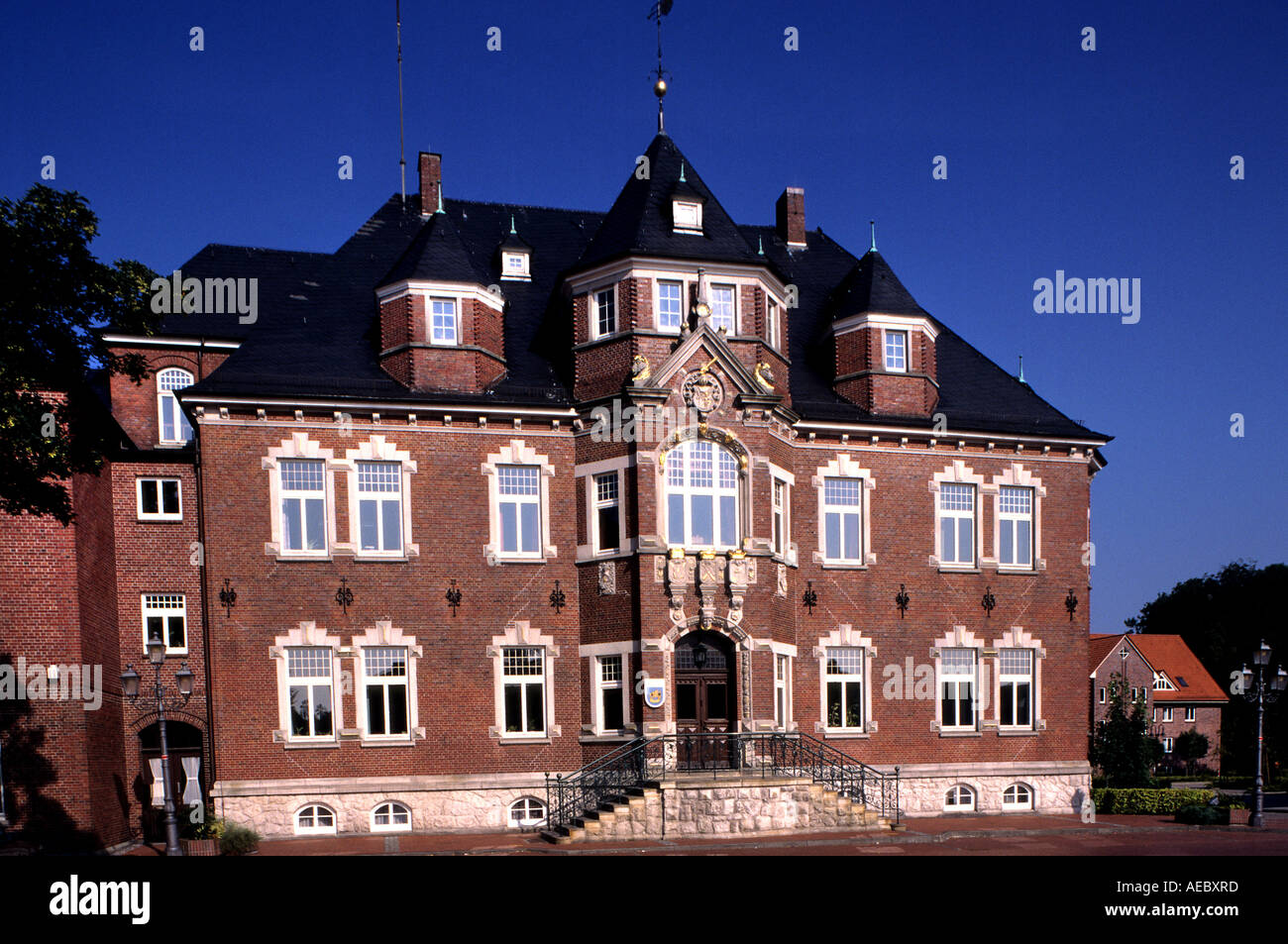 Germany Ost friesland Norden townhall East Frisia German - Stock Image