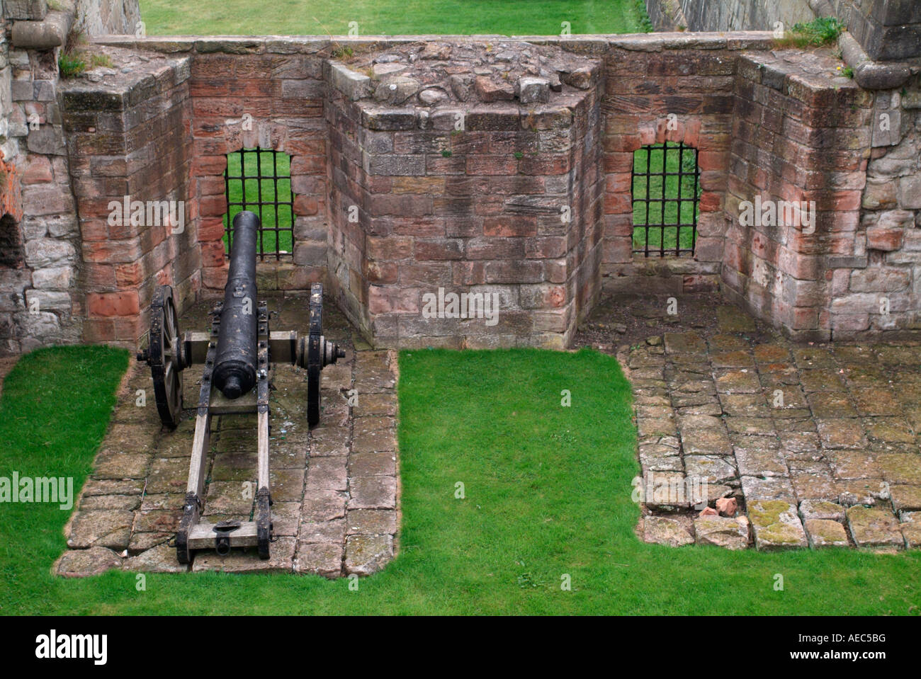 Flanker on the east side of the Cumberland Bastion, Berwick-upon-Tweed - Stock Image
