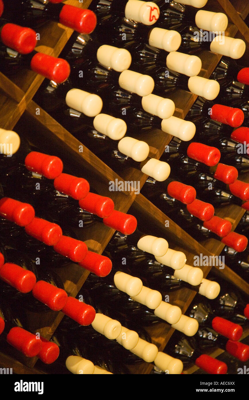 wines at Artiste Impressionist Winery and Tasting Studio Santa Ynez Santa Ynez Valley near Santa Barbara California - Stock Image