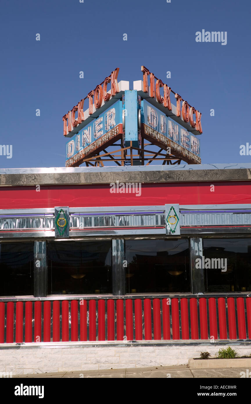 View of the Tick Tock diner in Clifton New Jersey USA October 2006 - Stock Image