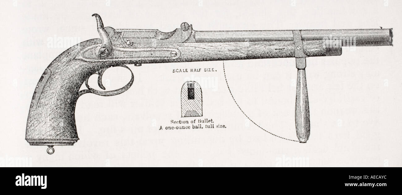 Sir Richard Burton's Carbine Pistol when he was a Captain - Stock Image