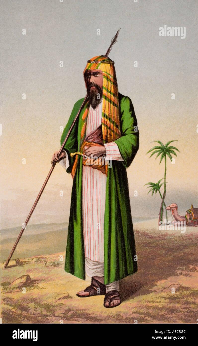 Sir Richard Burton, British explorer, as Haji Abdullah en route to Mecca. - Stock Image