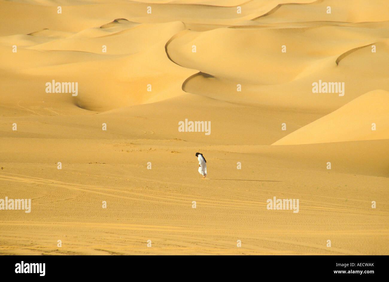 Tuareg in Erg Murzuk desert Sahara Lybia - Stock Image