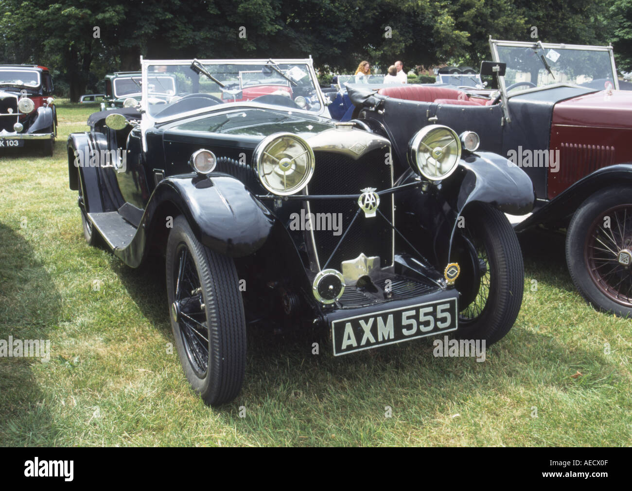 1933 Vintage Riley Lynx 9 sports convertible car Black Stock Photo