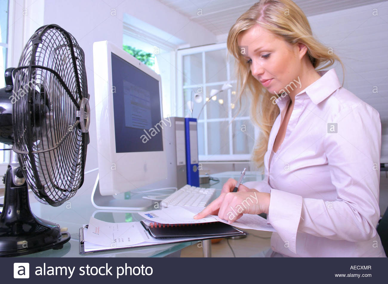 woman in office - Stock Image