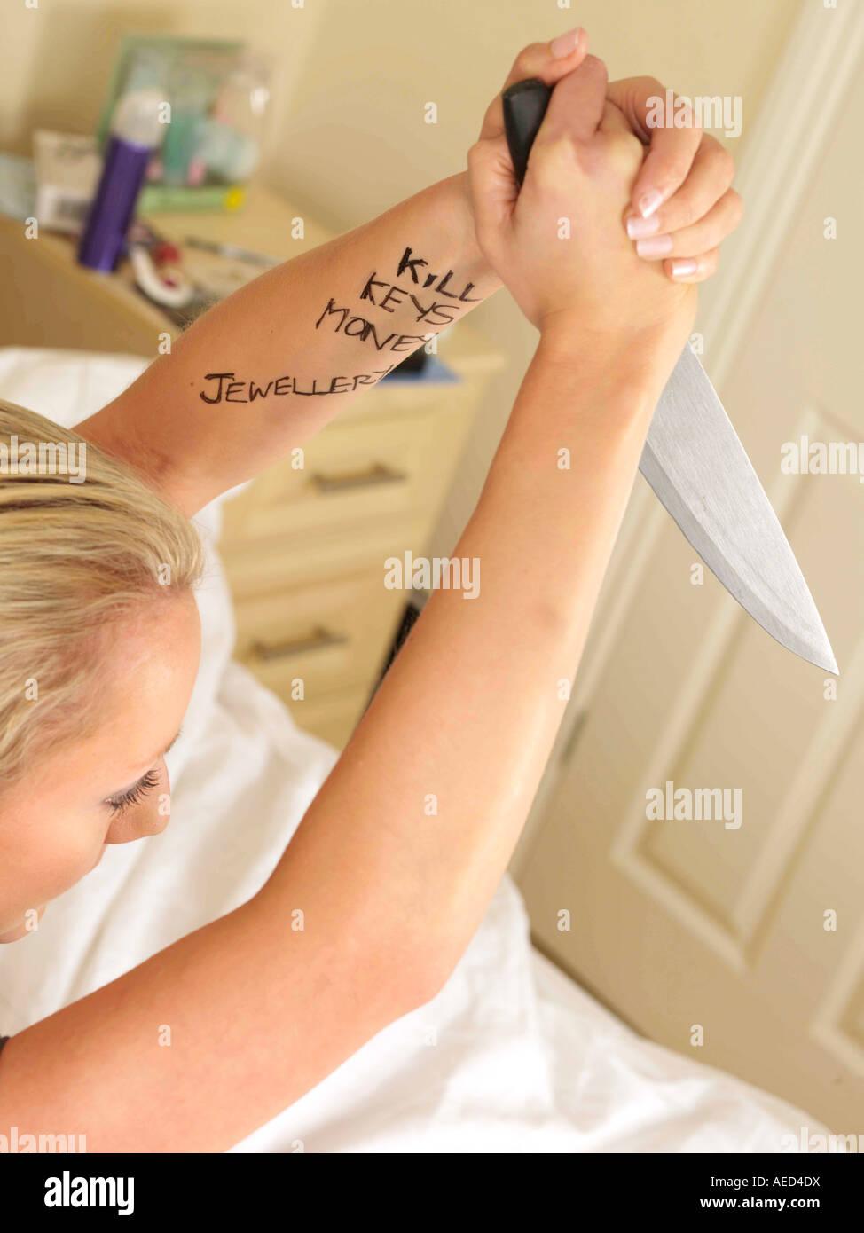 Violent Teenager Model Released - Stock Image
