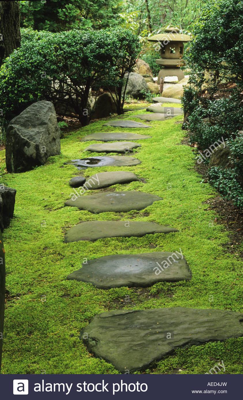 John P Humes Japanese Stroll Garden Hempsted New York Moss