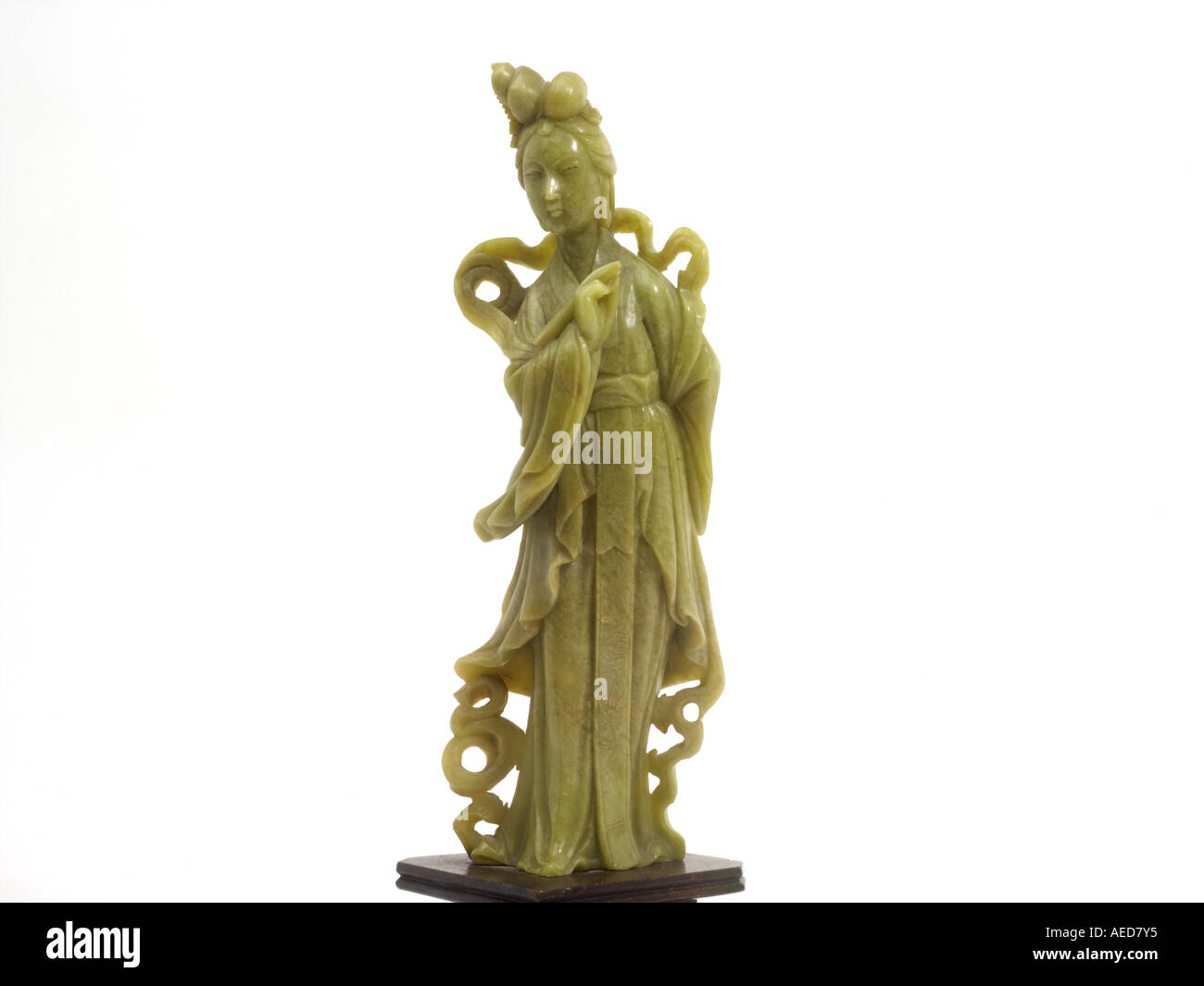 Jade Sculpture Of Kuan Yin Bodhisattva Of Compassion Jade Is A