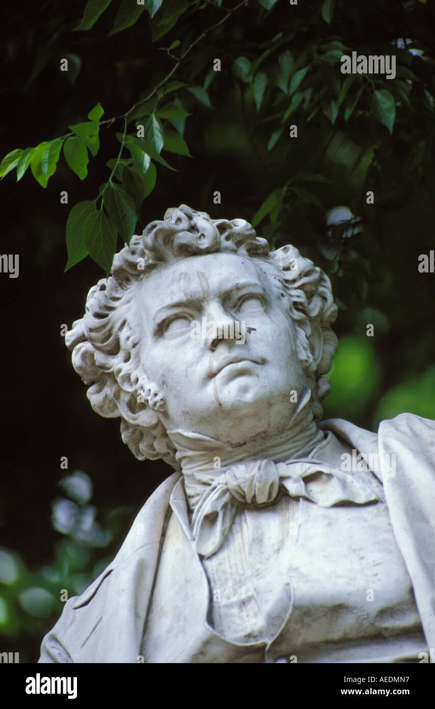 statue of Ludwig van Beethoven - Stock Image