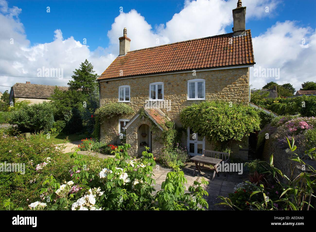 Plum Tree Cottage an English cottage property released Milborne Port Sherborne Dorset England UK - Stock Image