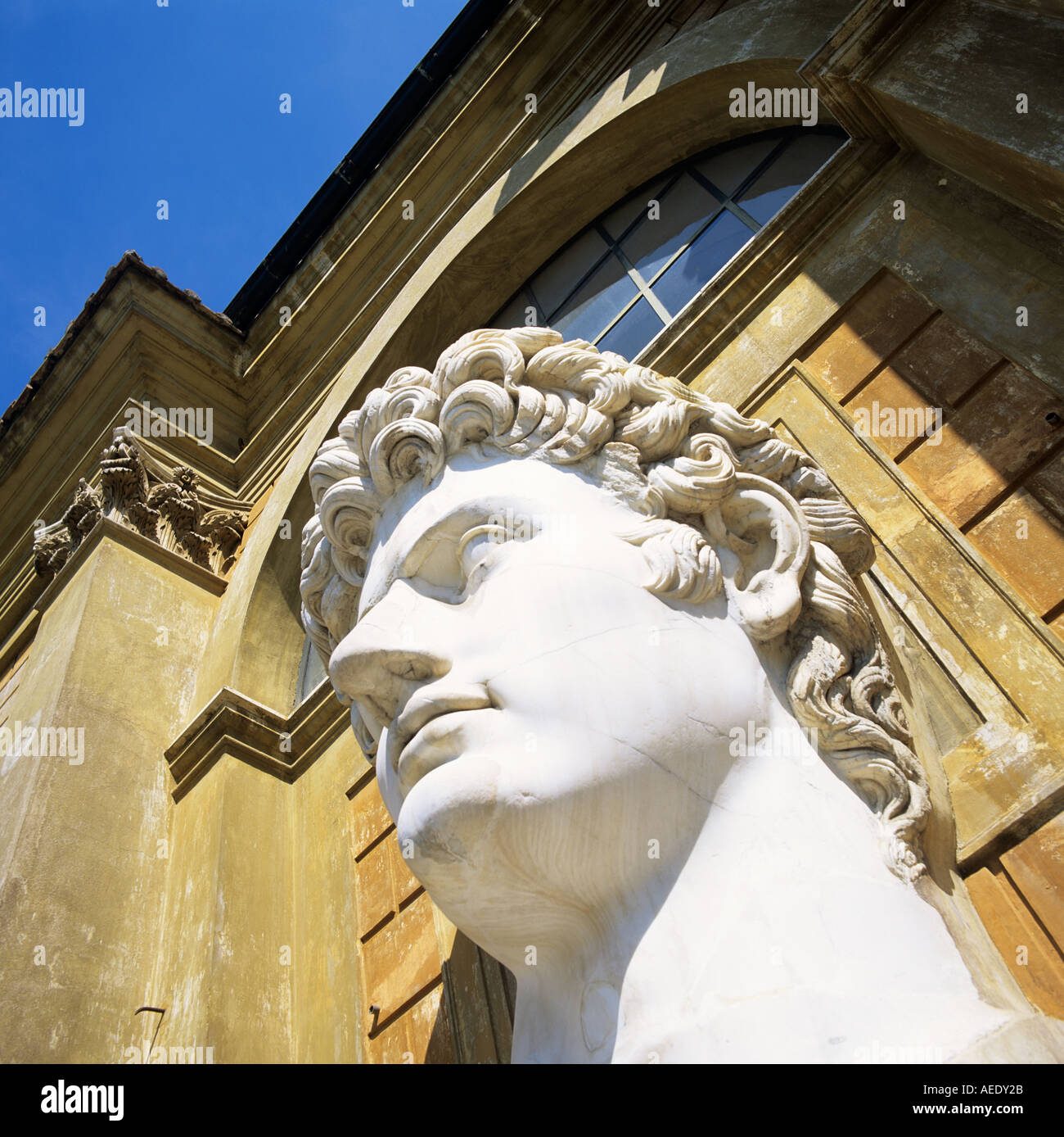 Giant Marble Statue Of Nero National Museum Rome Italy Europe - Stock Image