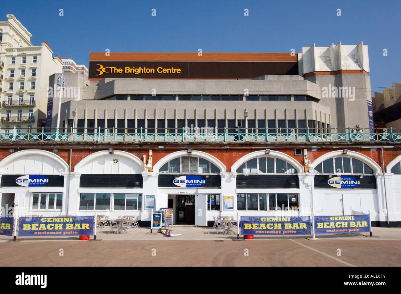The Brighton Centre on the sea front Brighton Stock Photo
