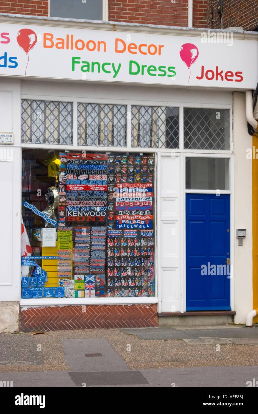 Joke shop window - Stock Image