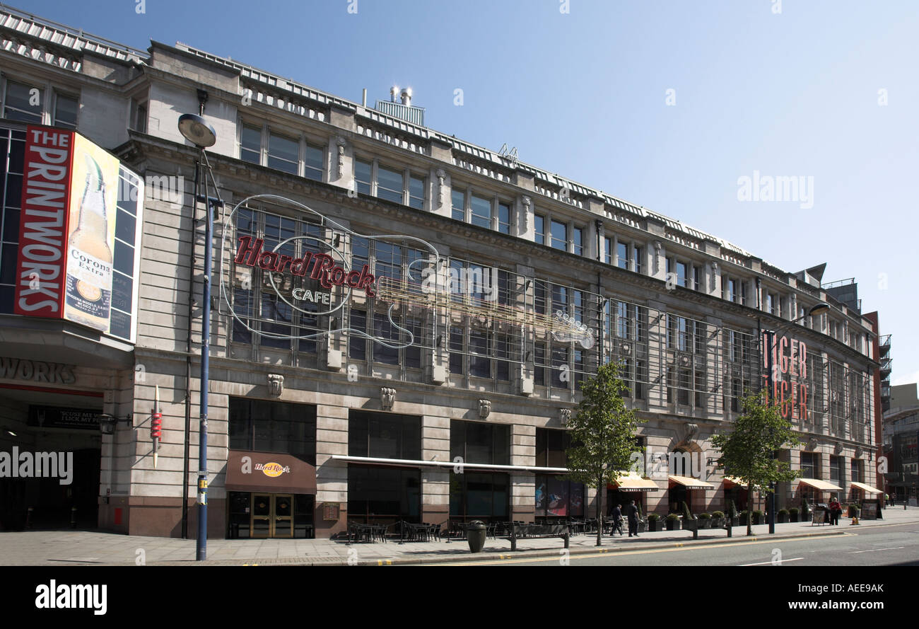 The Printworks, Hardrock cafe and Tiger Tiger bar in Manchester UK Stock Photo