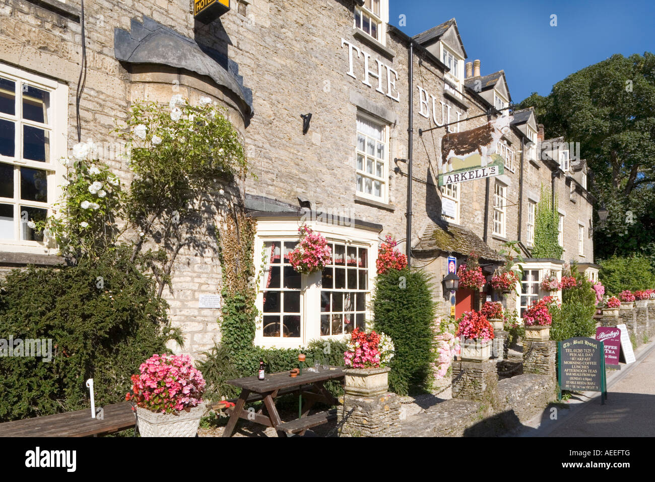 The Bull Hotel in the Cotswold town of Fairford, Gloucestershire - Stock Image