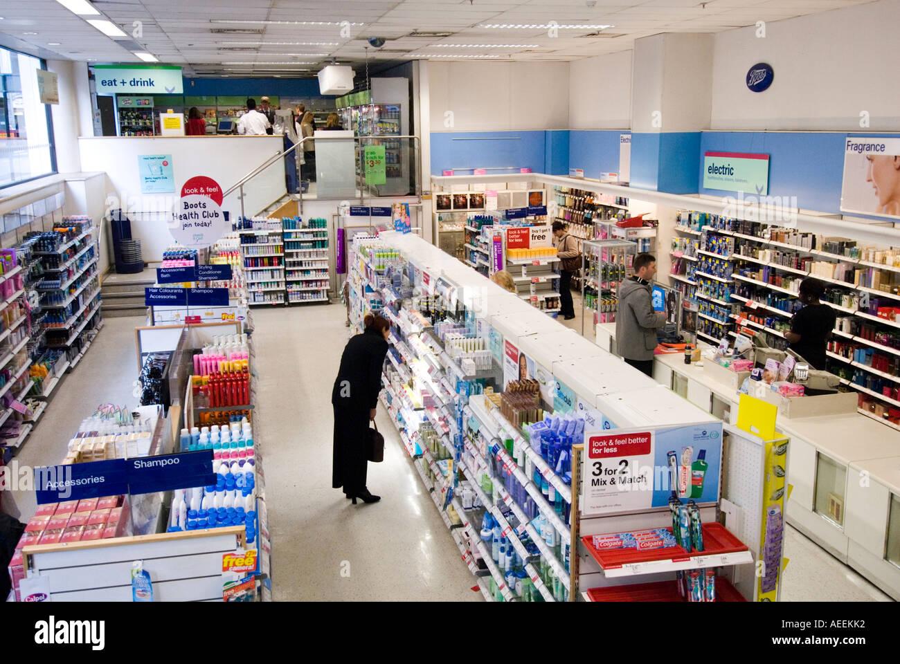 boots pharmacy london england uk stock photo 7806065 alamy. Black Bedroom Furniture Sets. Home Design Ideas