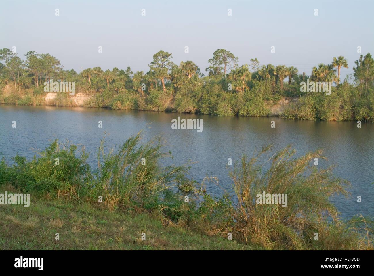 C 44 C44 canal Okeechobee Waterway Martin County South Florida - Stock Image