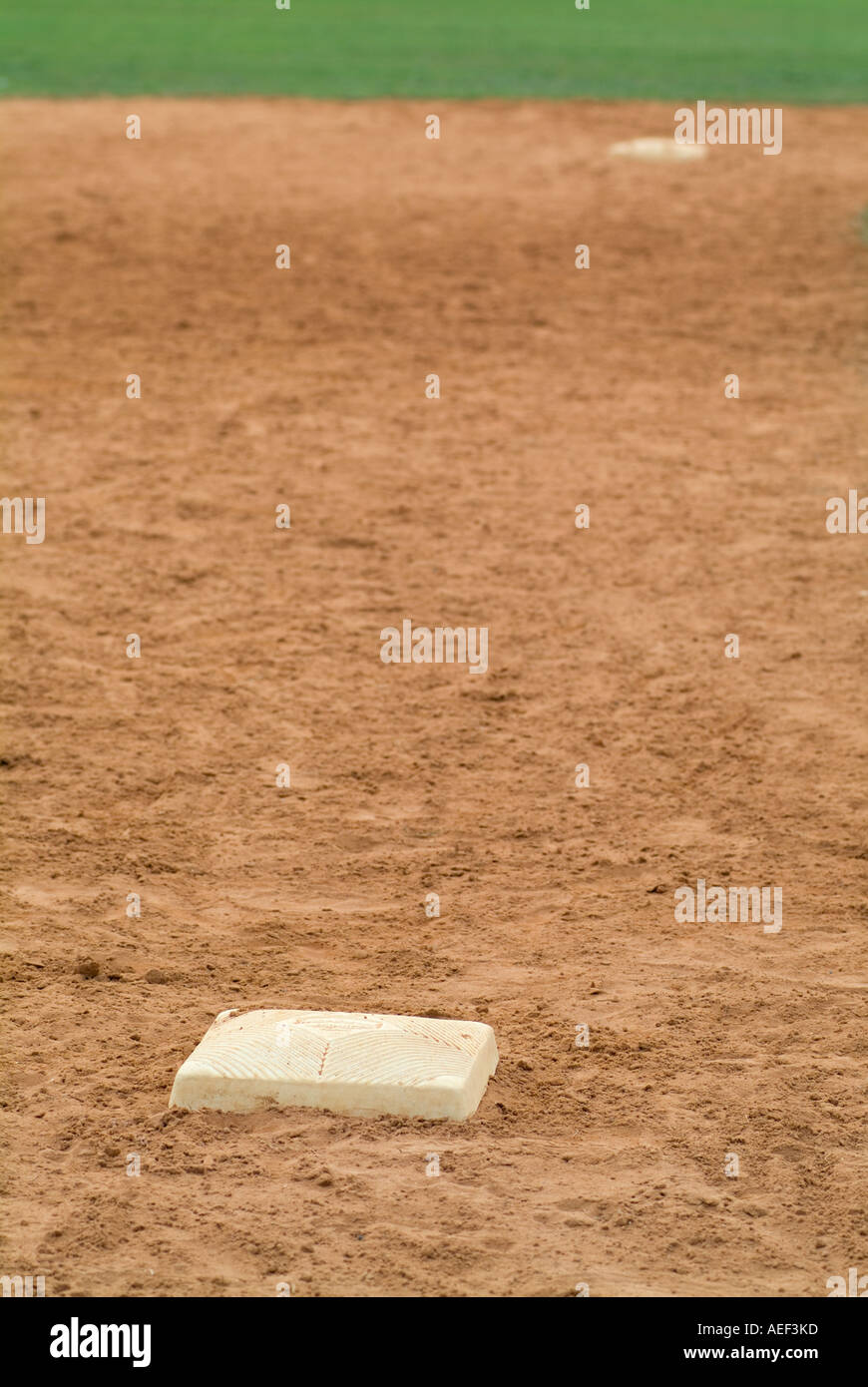 third base baseball sports sporting bases - Stock Image