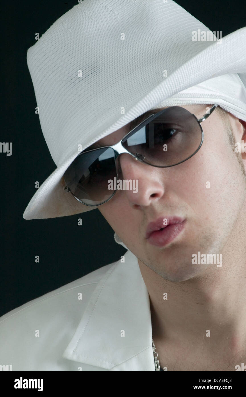 gangster show business cool dude fashion attitiude music Stock Photo