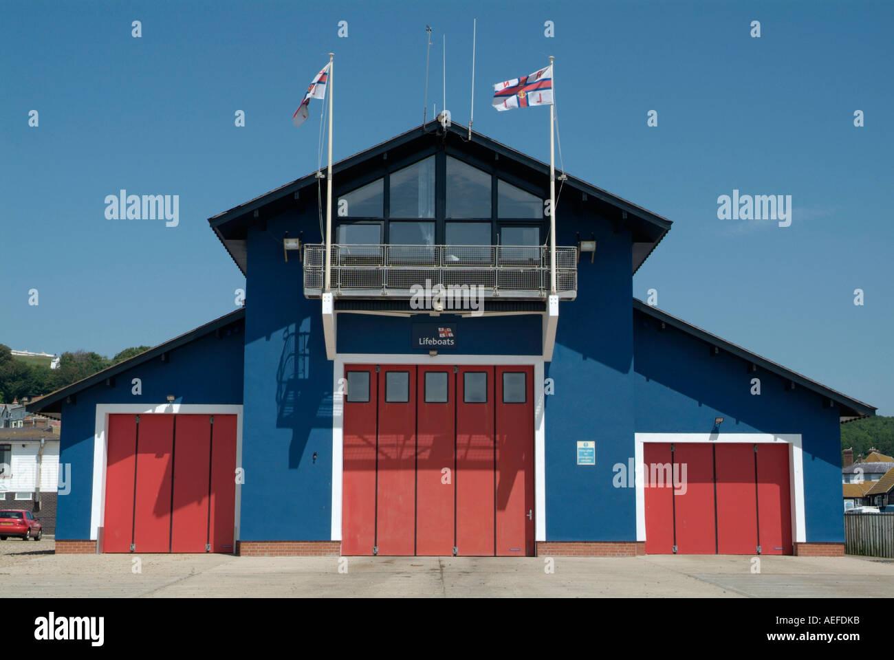 RNLI Lifeboat Station Hastings UK 24th June 2006 Stock Photo