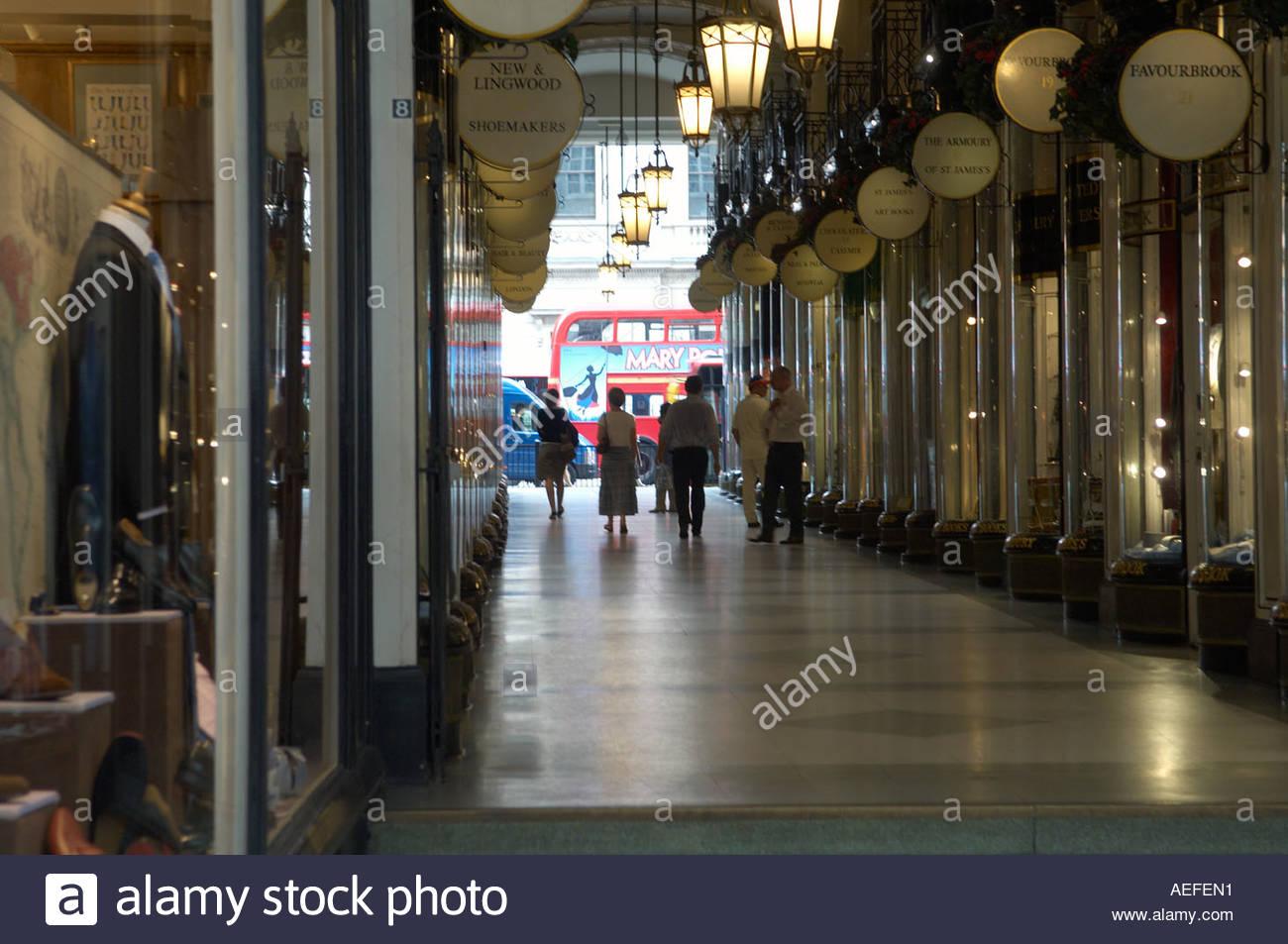 Shopping Arcade in Jermyn Street in London CREDIT Geraint Lewis - Stock Image