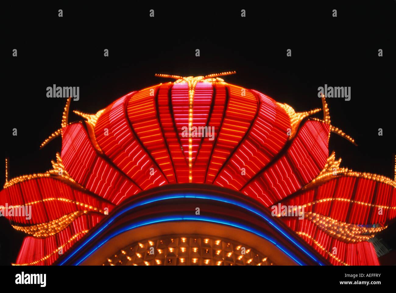 Casino light sign Las Vegas NV - Stock Image