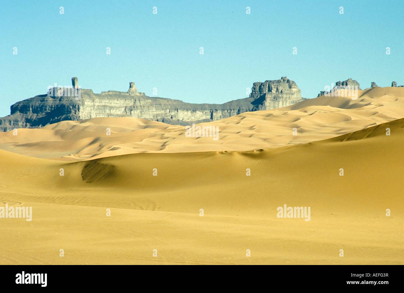Tadrart Acacus desert Sahara Lybia - Stock Image