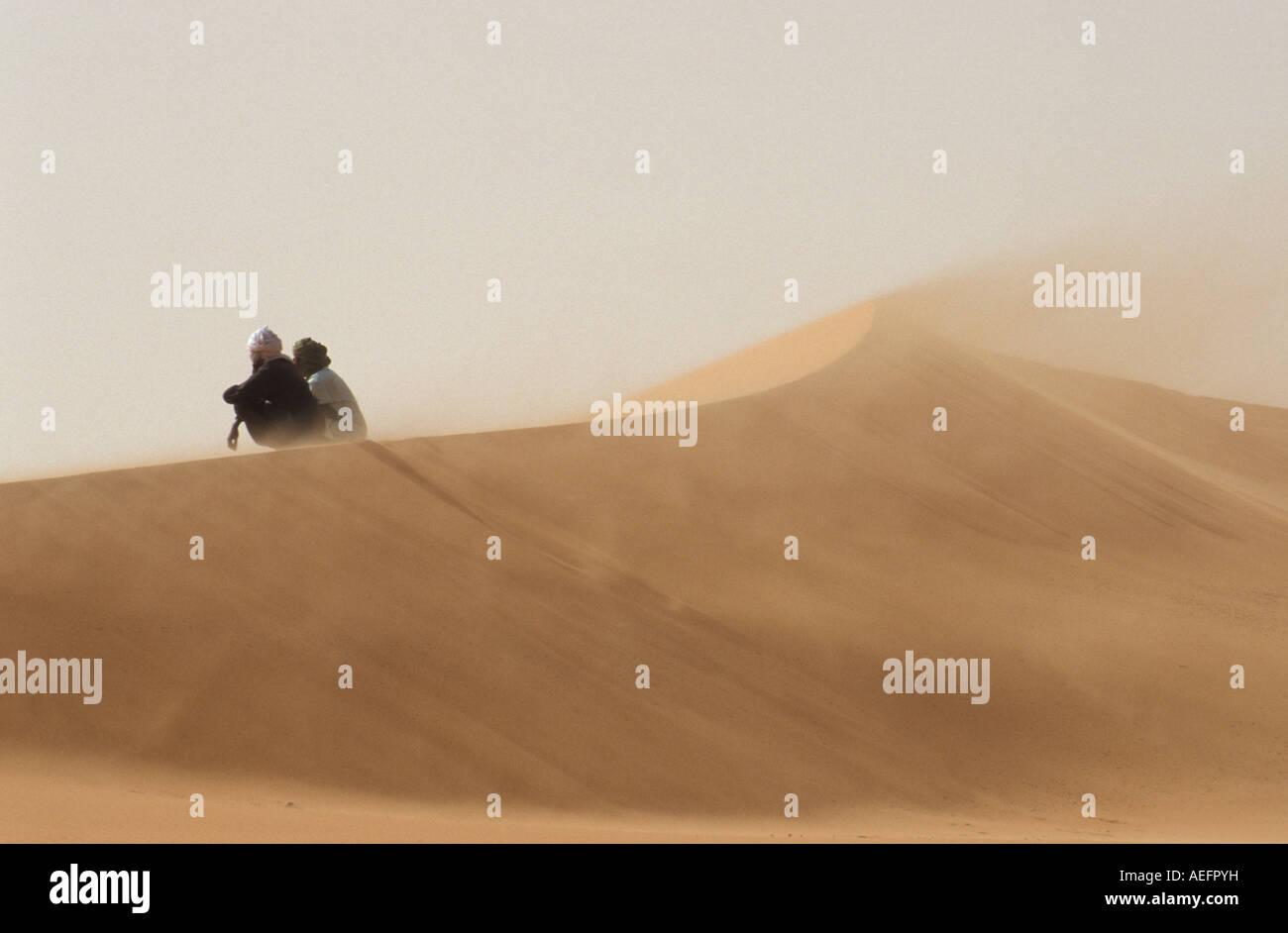 Dunes of Erg Murzuk desert Sahara Lybia - Stock Image