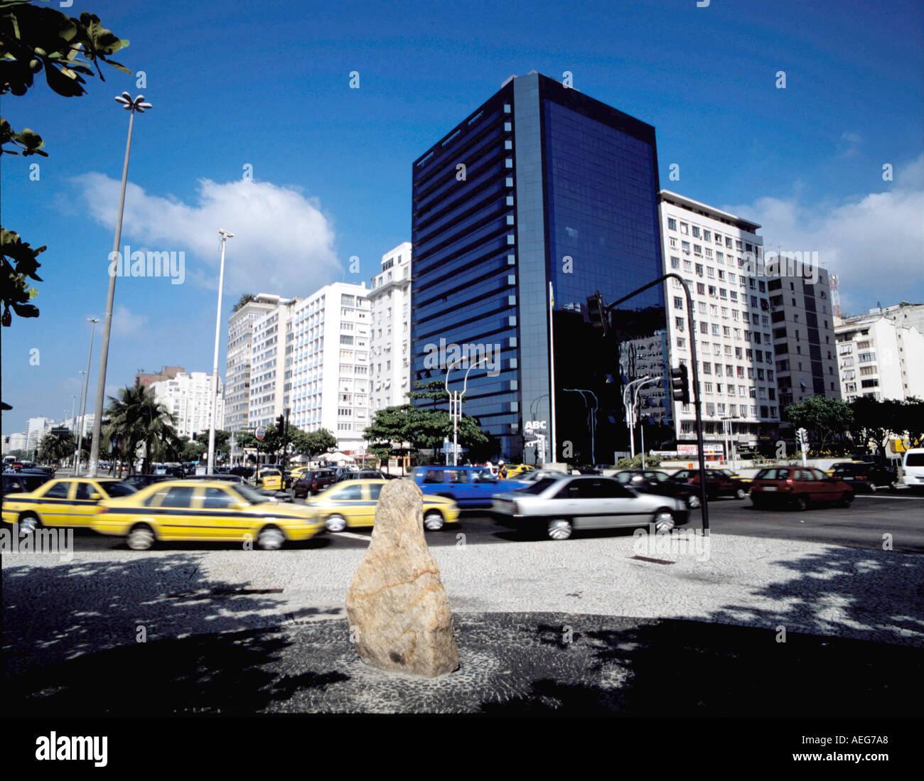 Travel Brasil Copacabana Calcadao Buildings Facade Facades Sunny