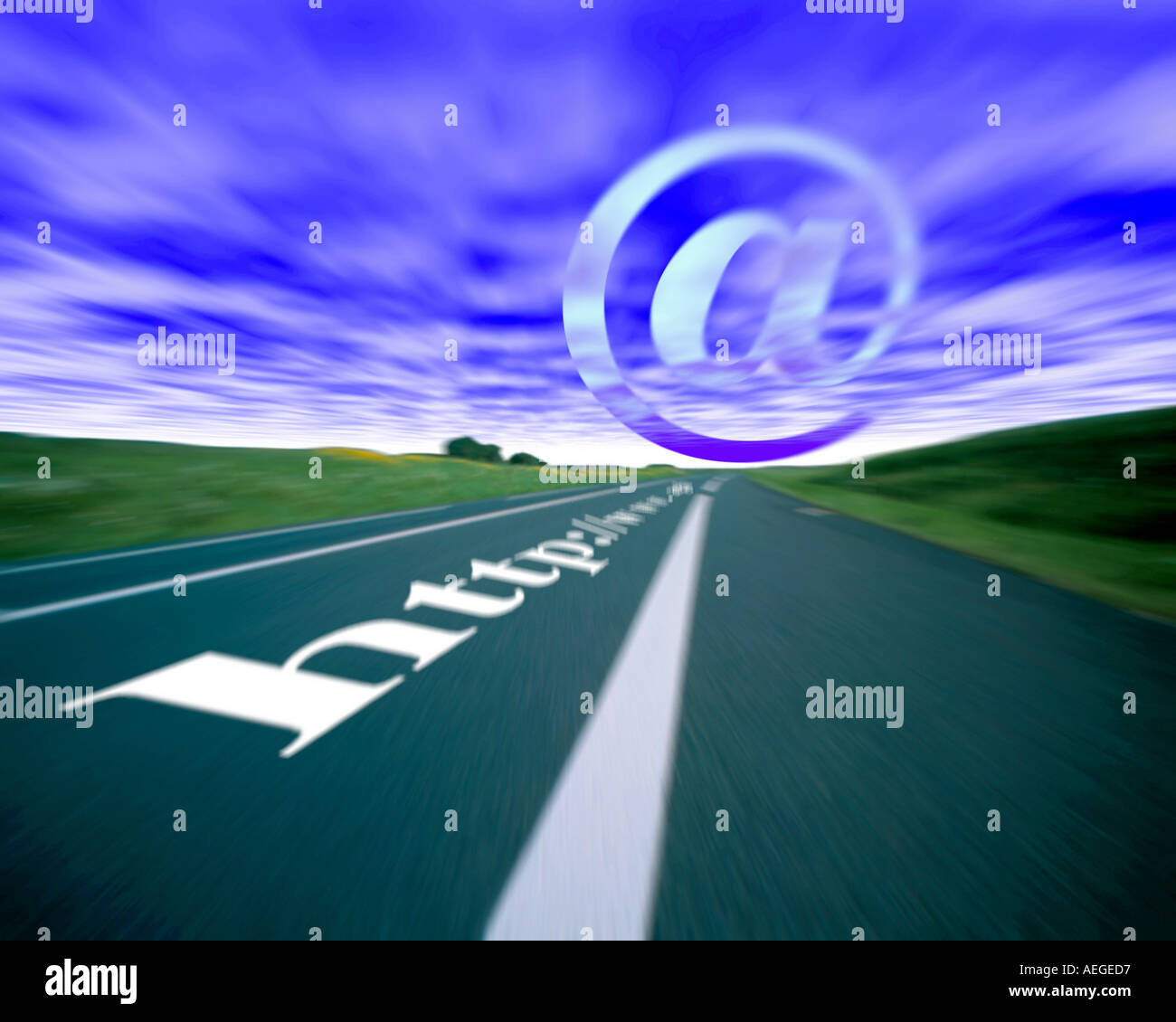 Office road highway perspective motion speed conectivity blur destination objective internet www world wide web direction libert - Stock Image