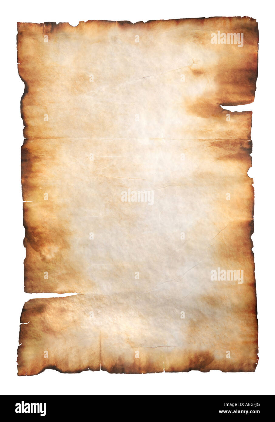 Old parchment - Stock Image