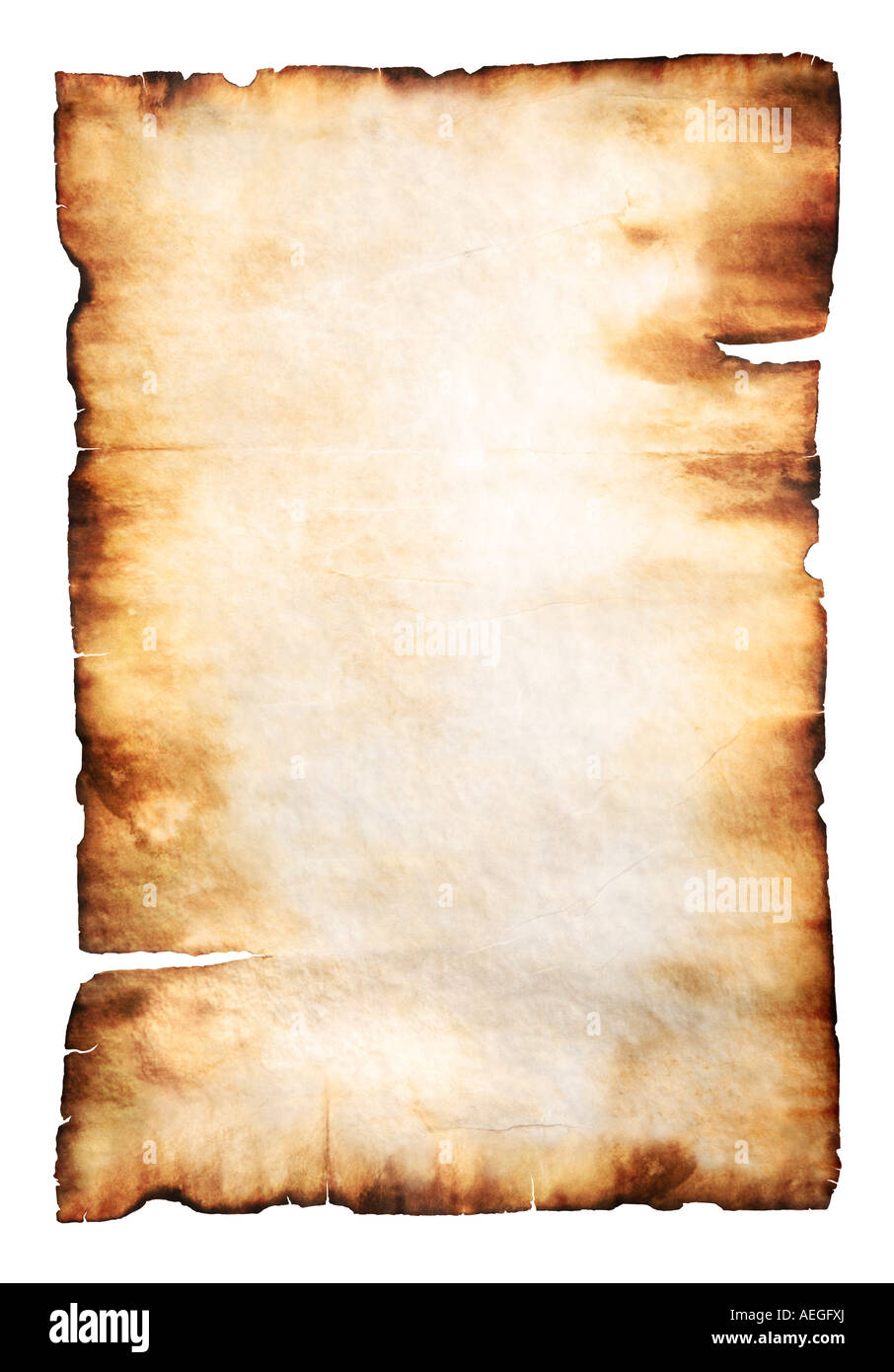 vintage yellowish parchment paper with burnt edges stock photo 13678313 alamy. Black Bedroom Furniture Sets. Home Design Ideas
