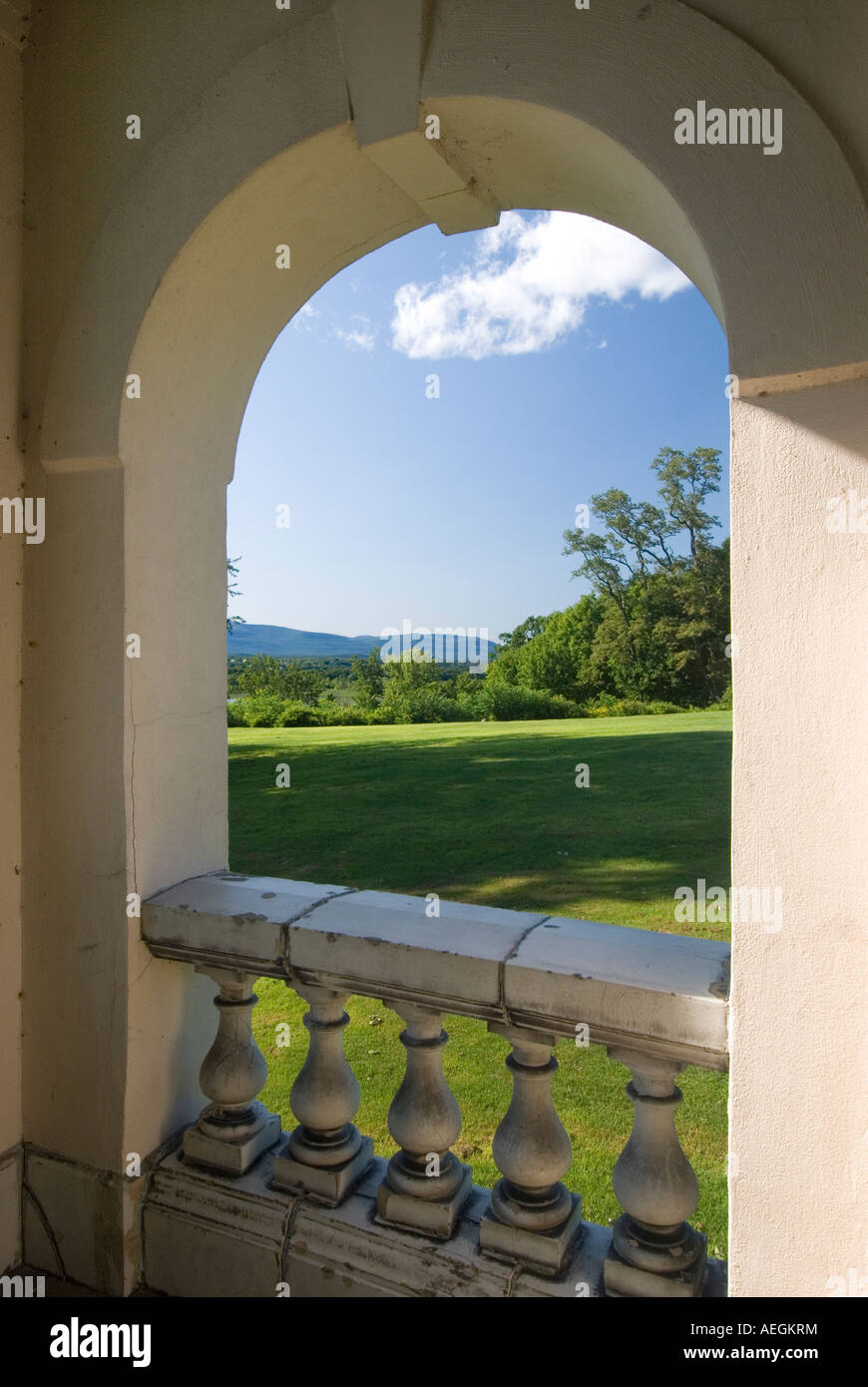 Bard College Campus on the Hudson River, August 2007 - Stock Image