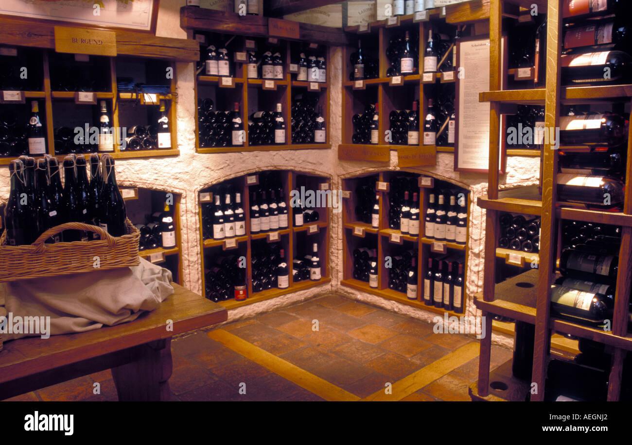 Germany Bavaria Munich the wine cellar at Feinkost Käfer - Stock Image