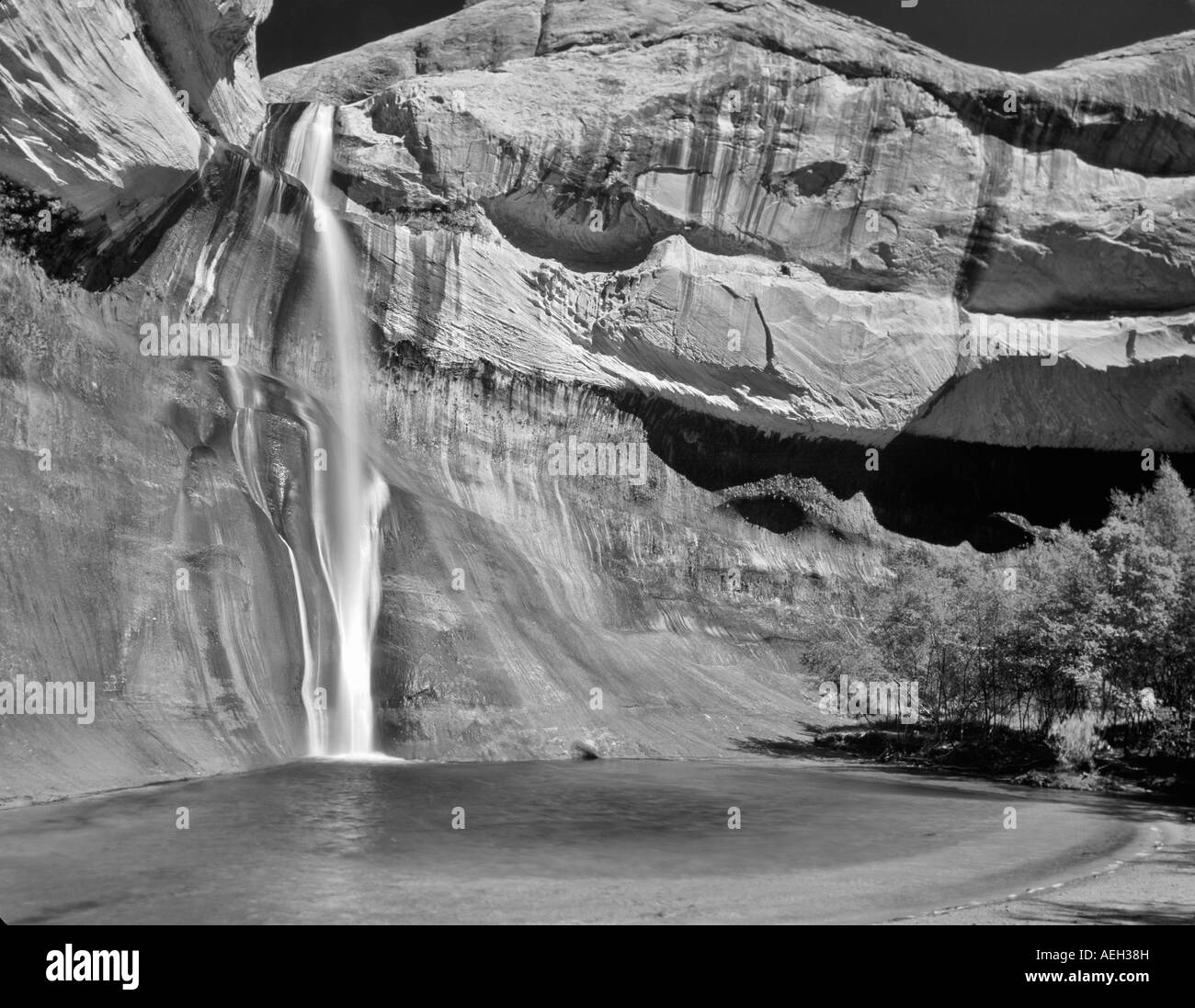 Lower Calf Creek Falls Grand Staircase Escalante National Monument Utah Stock Photo