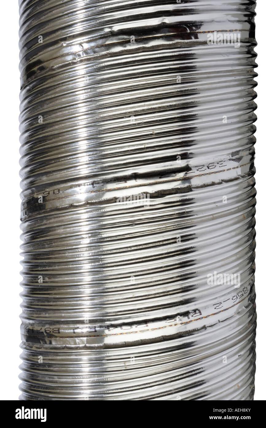 Metal Chimney flue piping Stock Photo