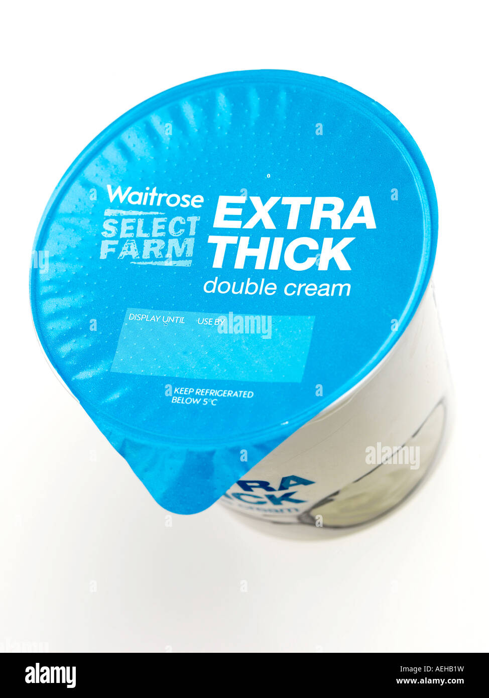 Extra Thick Double Cream - Stock Image