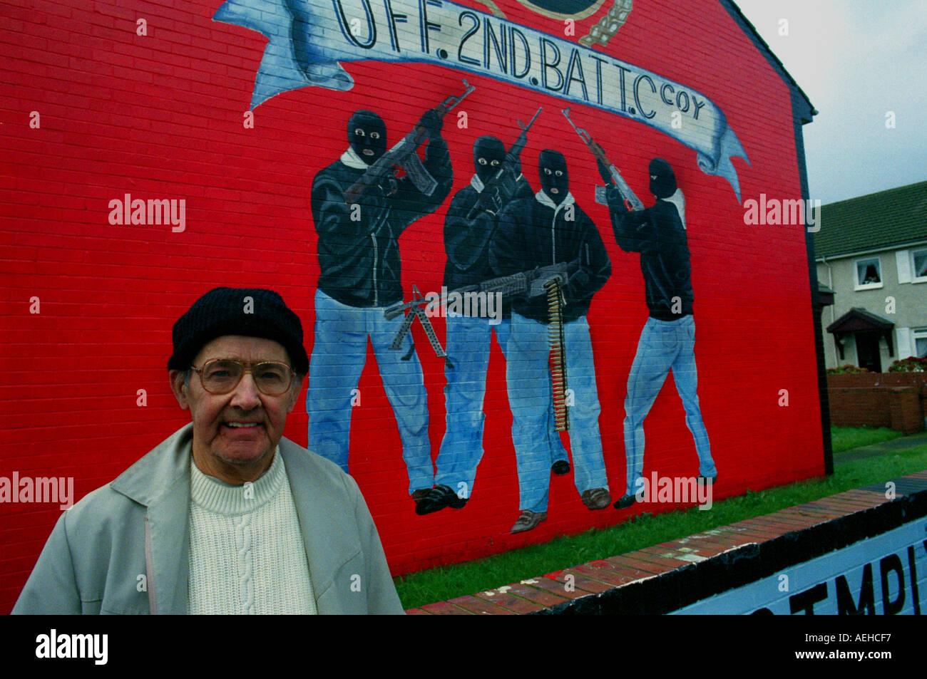 Shankill road mural,UFF - Stock Image